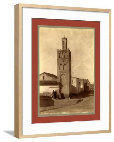 Tlemcen Djama Mosque Bab Zir, Algiers-Etienne & Louis Antonin Neurdein-Framed Art Print