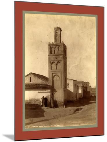 Tlemcen Djama Mosque Bab Zir, Algiers-Etienne & Louis Antonin Neurdein-Mounted Giclee Print