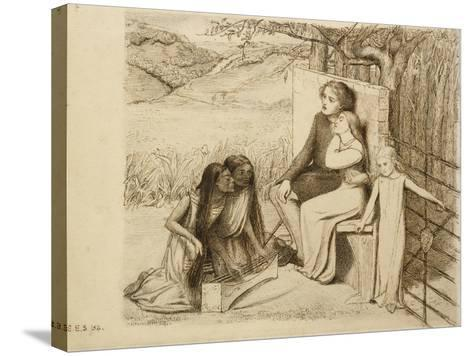 Two Lovers, 1854-Elizabeth Eleanor Siddal-Stretched Canvas Print