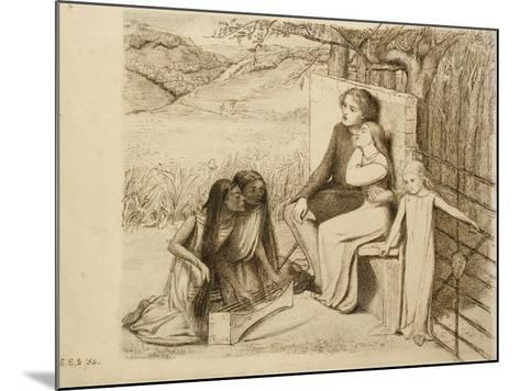 Two Lovers, 1854-Elizabeth Eleanor Siddal-Mounted Giclee Print