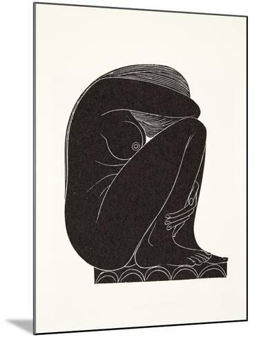 On the Tiles, 1921-Eric Gill-Mounted Giclee Print