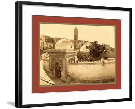Oran, the Pasha Mosque, Algiers-Etienne & Louis Antonin Neurdein-Framed Art Print