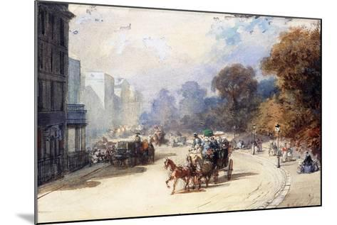 A Carriage at Hyde Park Corner, London, (Pencil, W/C, Bodycolour Heightened with White)-Eugene-Louis Lami-Mounted Giclee Print