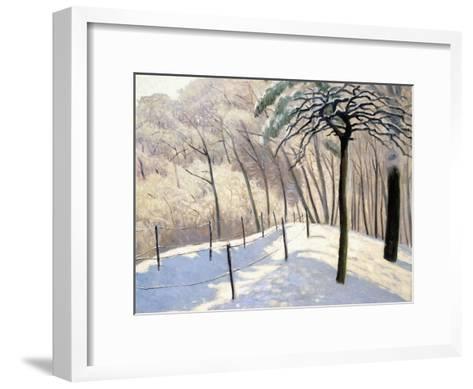 Snowy Landscape in Bois De Boulogne; Paysage De Neige Au Bois De Boulogne, 1905-Felix Edouard Vallotton-Framed Art Print