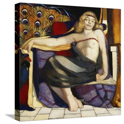 Odalisque-Eric Harald Macbeth Robertson-Stretched Canvas Print