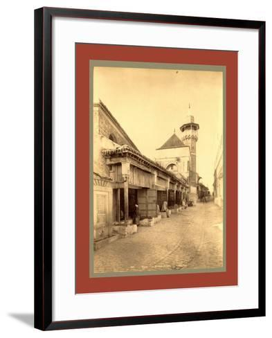 Tunis Mosque Becquia, Tunisia-Etienne & Louis Antonin Neurdein-Framed Art Print