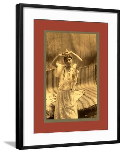 Tlemcen, Young Moorish Woman-Etienne & Louis Antonin Neurdein-Framed Art Print