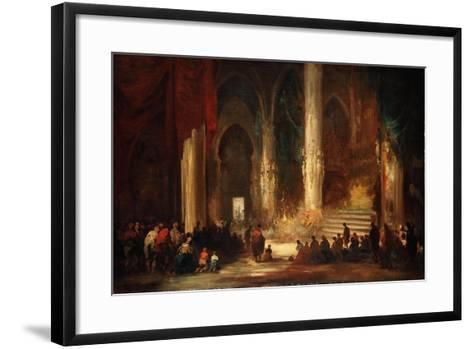Procession in a Cathedral, C.1860-Eugenio Lucas velazquez-Framed Art Print