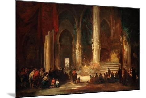 Procession in a Cathedral, C.1860-Eugenio Lucas velazquez-Mounted Giclee Print