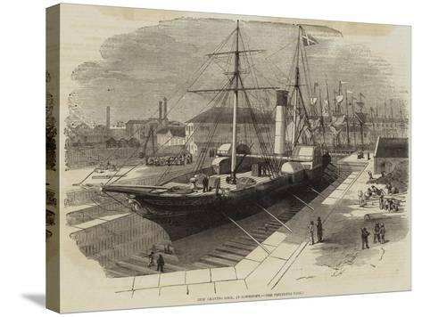 New Graving Dock, at Lowestoft-Edwin Weedon-Stretched Canvas Print