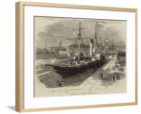 New Graving Dock, at Lowestoft-Edwin Weedon-Framed Art Print
