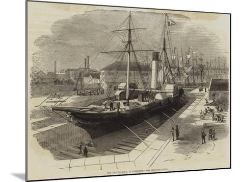 New Graving Dock, at Lowestoft-Edwin Weedon-Mounted Giclee Print
