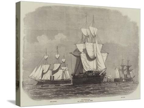 The Prussian Iron-Clad Fleet-Edwin Weedon-Stretched Canvas Print