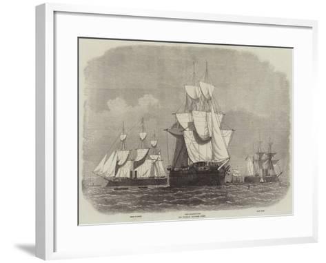 The Prussian Iron-Clad Fleet-Edwin Weedon-Framed Art Print