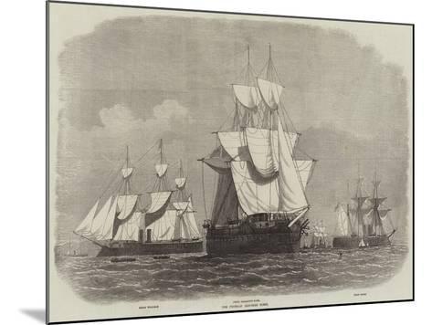 The Prussian Iron-Clad Fleet-Edwin Weedon-Mounted Giclee Print
