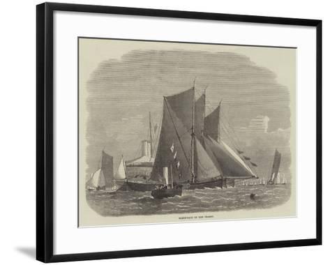 Barge-Race on the Thames-Edwin Weedon-Framed Art Print