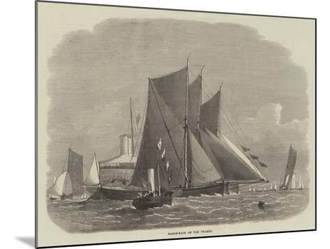 Barge-Race on the Thames-Edwin Weedon-Mounted Giclee Print