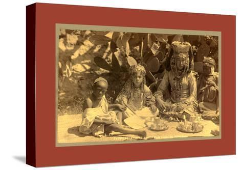 Family of a Woman Ouled Nai-Etienne & Louis Antonin Neurdein-Stretched Canvas Print