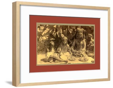Family of a Woman Ouled Nai-Etienne & Louis Antonin Neurdein-Framed Art Print