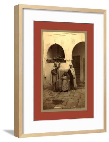 Constantine, Moors, Algiers-Etienne & Louis Antonin Neurdein-Framed Art Print
