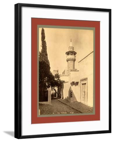Tunis, a Mosque, Tunisia-Etienne & Louis Antonin Neurdein-Framed Art Print
