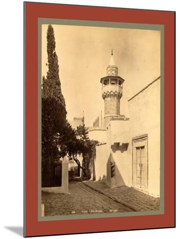 Tunis, a Mosque, Tunisia-Etienne & Louis Antonin Neurdein-Mounted Giclee Print