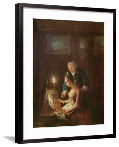 The Music Lesson, 1769-Emanuel Handmann-Framed Art Print