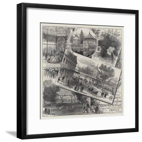 The Baths and Casino of Contrexeville-Ernest Henry Griset-Framed Art Print