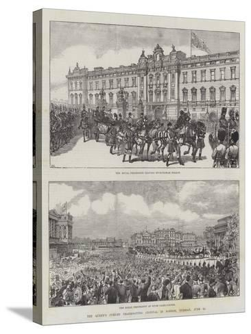 The Queen's Jubilee Thanksgiving Festival in London, Tuesday, 21 June-Ernest Henry Griset-Stretched Canvas Print