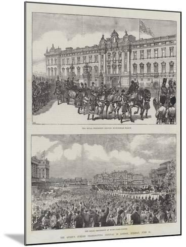 The Queen's Jubilee Thanksgiving Festival in London, Tuesday, 21 June-Ernest Henry Griset-Mounted Giclee Print