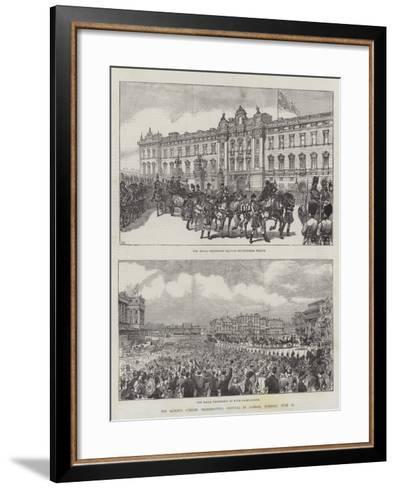 The Queen's Jubilee Thanksgiving Festival in London, Tuesday, 21 June-Ernest Henry Griset-Framed Art Print