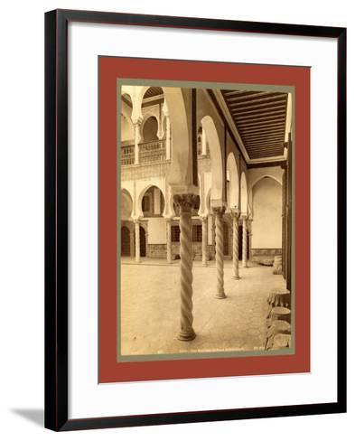 Moorish Palace, Algiers-Etienne & Louis Antonin Neurdein-Framed Art Print