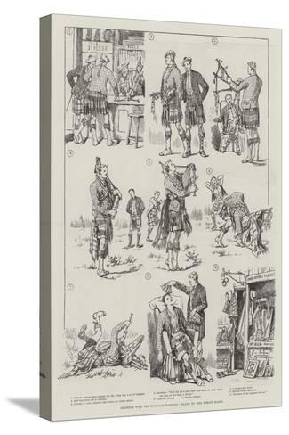 Amateurs with the Highland Bagpipes-Evelyn Stuart Hardy-Stretched Canvas Print