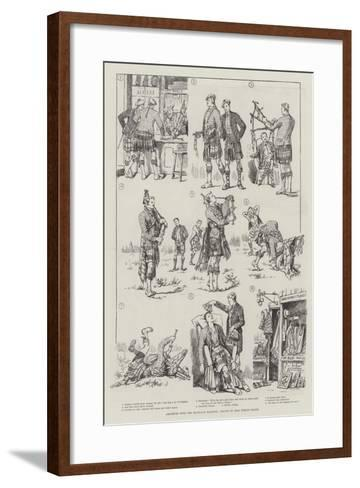 Amateurs with the Highland Bagpipes-Evelyn Stuart Hardy-Framed Art Print