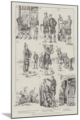 Amateurs with the Highland Bagpipes-Evelyn Stuart Hardy-Mounted Giclee Print