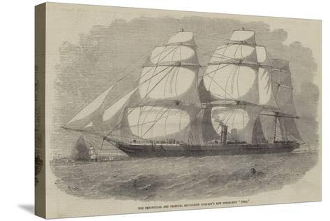 The Peninsular and Oriental Navigation Company's New Steam-Ship Pera-Edwin Weedon-Stretched Canvas Print