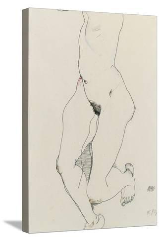 Running Woman, 1913-Egon Schiele-Stretched Canvas Print