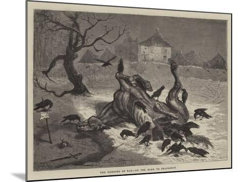 The Horrors of War, on the Road to Beaugency-Ernest Henry Griset-Mounted Giclee Print