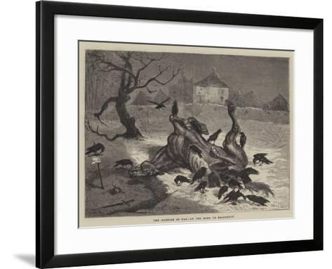 The Horrors of War, on the Road to Beaugency-Ernest Henry Griset-Framed Art Print