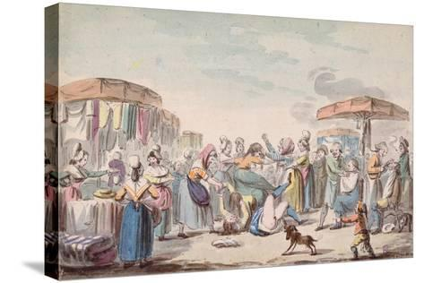 Fair During the Period of the French Revolution, C.1789-Etienne Bericourt-Stretched Canvas Print