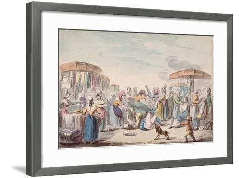 Fair During the Period of the French Revolution, C.1789-Etienne Bericourt-Framed Art Print