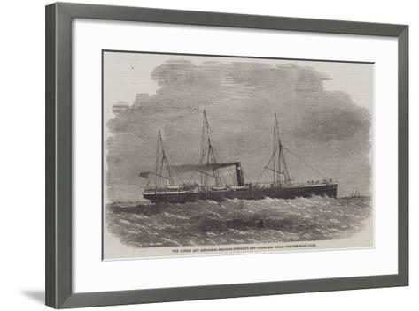The London and Edinburgh Shipping Company's New Steam-Ship Oscar-Edwin Weedon-Framed Art Print