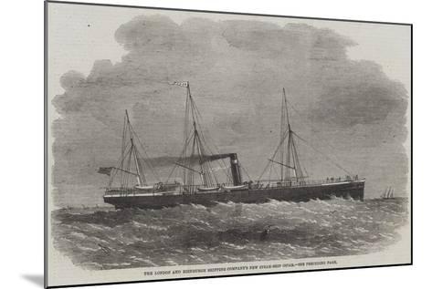 The London and Edinburgh Shipping Company's New Steam-Ship Oscar-Edwin Weedon-Mounted Giclee Print