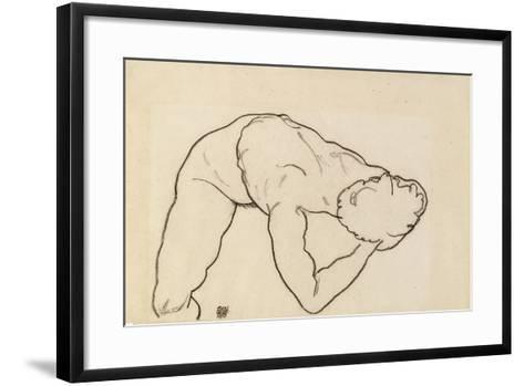 Female Nude, 1918-Egon Schiele-Framed Art Print
