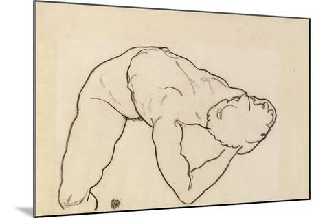 Female Nude, 1918-Egon Schiele-Mounted Giclee Print