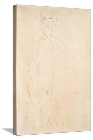 Nude Female, 1912-Egon Schiele-Stretched Canvas Print