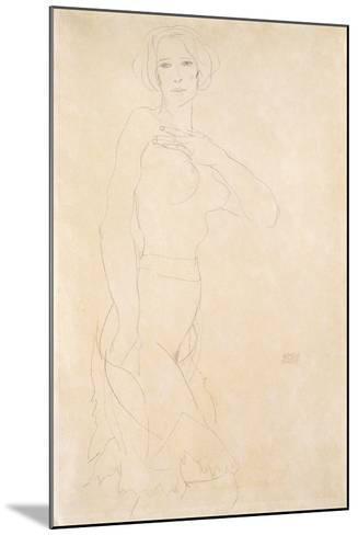 Nude Female, 1912-Egon Schiele-Mounted Giclee Print