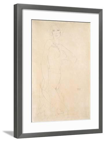 Nude Female, 1912-Egon Schiele-Framed Art Print