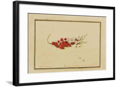 Red and White Currants, 1818-Fedor Petrovich Tolstoy-Framed Art Print
