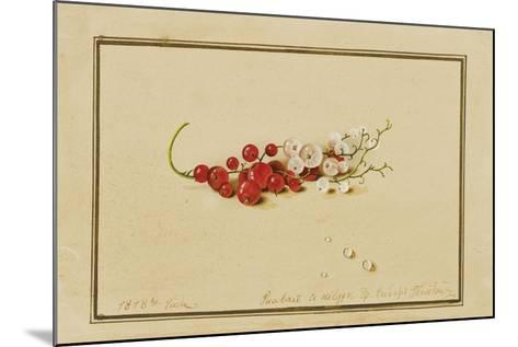 Red and White Currants, 1818-Fedor Petrovich Tolstoy-Mounted Giclee Print